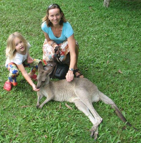 Human-Kangaroo Interaction