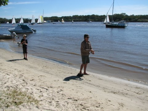Fishing in the Noosa River