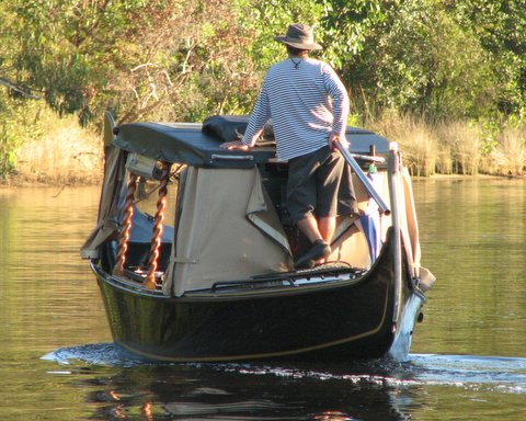 Forget Venice, take a gondala trip down the Noosa Canals