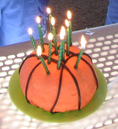 Basketball Cake: pinnacle of my culinary creativity