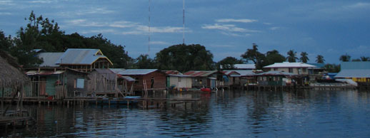 our neighbourhood in bocas del toro