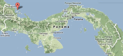 Bocas del Toro, Panama Map