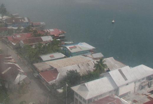 Bocas del Toro, arial view of Bocas Town in Panama