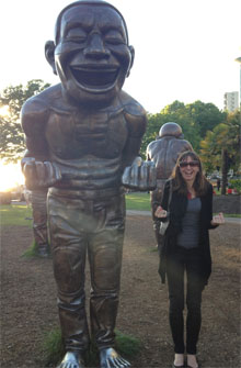 vancouver English Bay laughing man statues