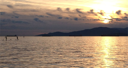 Vancouver sunset at English Bay