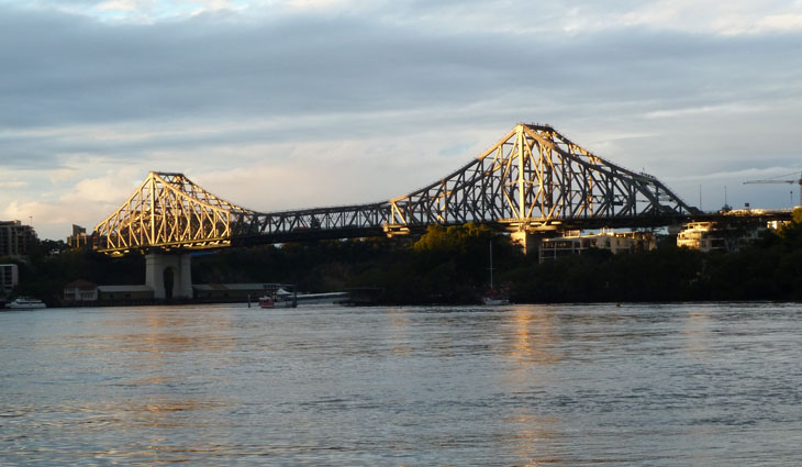Story Bridge which adventurers can climb on a guided tour