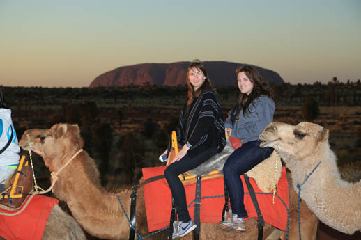 camel tour uluru Annabel candy on front