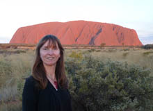 australian travel write and blogger annabel candy at Uluru