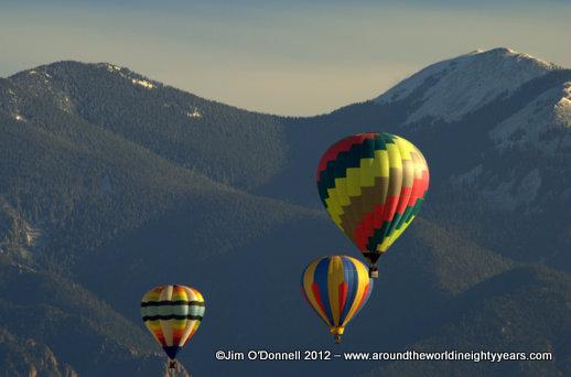 Taos, New Mexico Mountain Balloon Rally