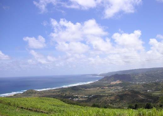 Barbados East Coast vista