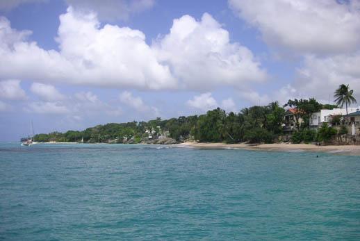 West Coast beach in Barbados