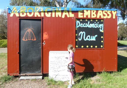 travel-with-kids- aboriginal tent embassy