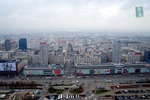 Views of Warsaw from the top of the Palace of Culture and Science