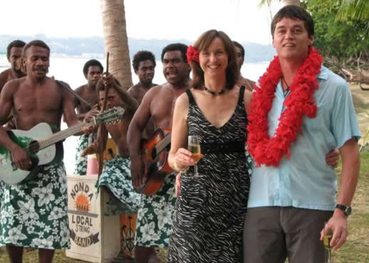 We were slow to get married but eventually made it official with an island wedding in Vanuatu attended by our three children.