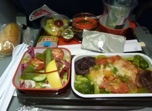how to stop overeating when you travel airline meal
