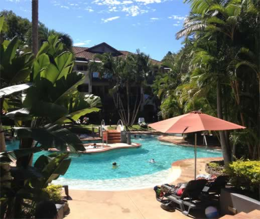 Poolside at the Mantra French Quarter Noosa