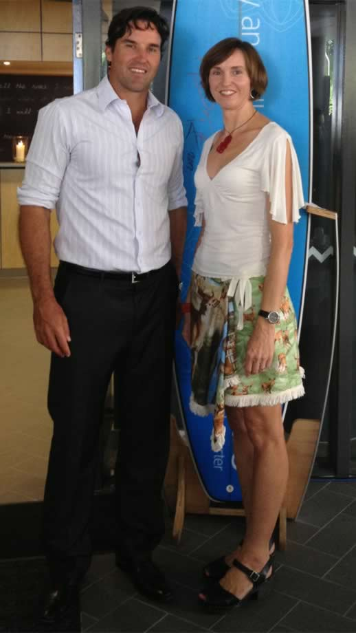 Pat Rafter Annabel Candy at the mantra in noosa