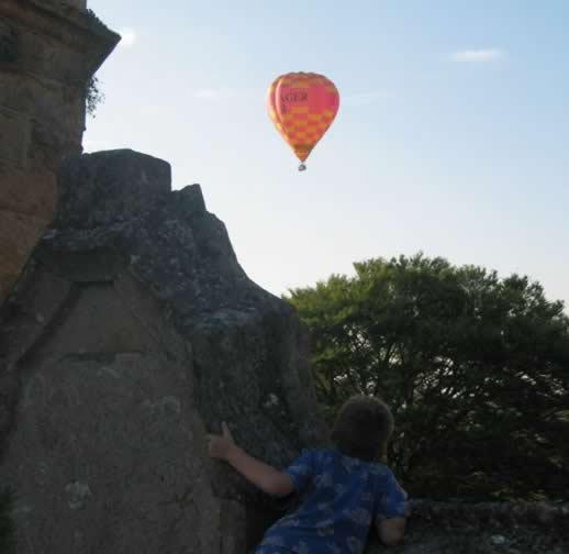 Travel photo hot air balloon