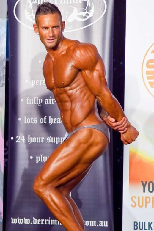 Fitness model and Body building star Joel Bushby