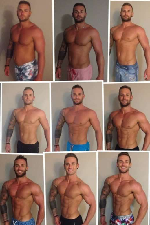 Tracking Joel's transformation over nine weeks in the run up to the body building competition