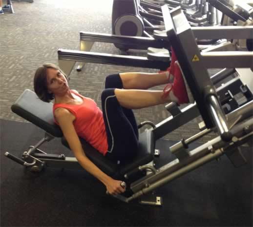 90kg leg bench press: not fun either