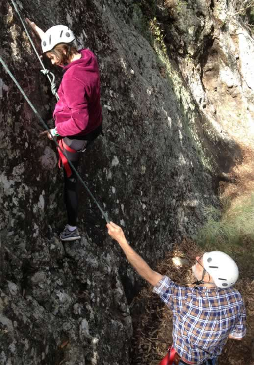 rock climbing in Queensland near Mount Barney