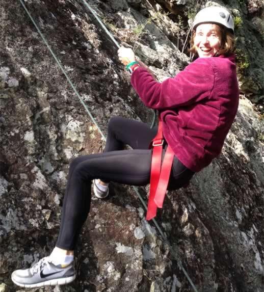 Rock climbing in Queensland