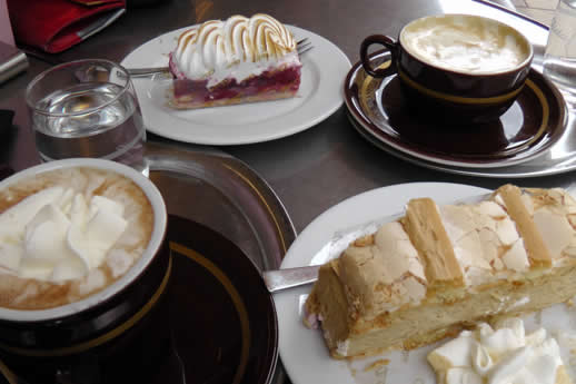 Cafe culture and cake in Vienna