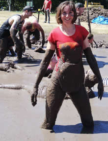 Annabel Candy completes the Stampede muddy obstacle race in Brsibane