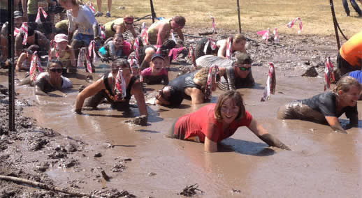obstacle race mud crawl