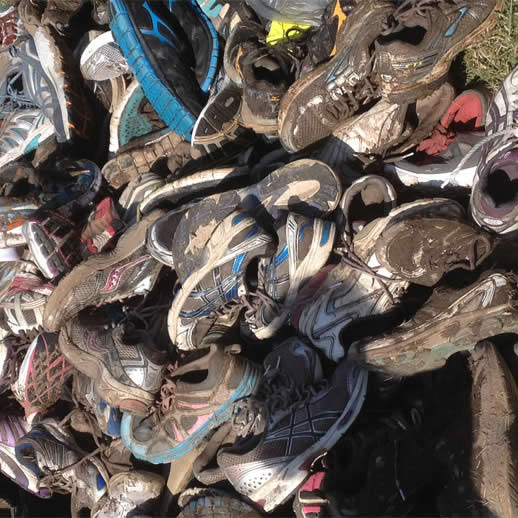obstacle race muddy trainers