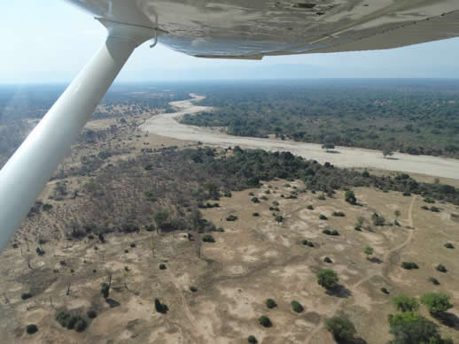 aerial view mana pools