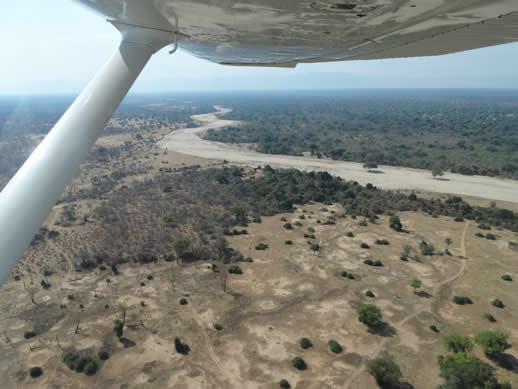 aerial view mana pools