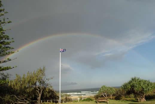 fraser island rainbow