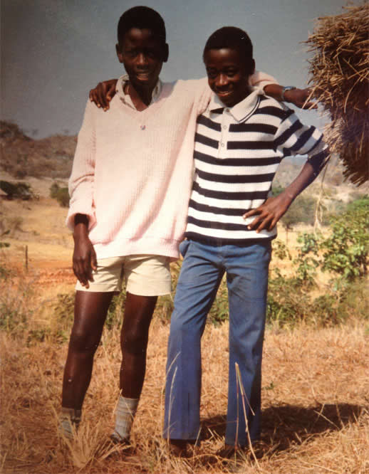 Sunwell and Bernard dressed put their best clothes on to pose for the camera in 1992
