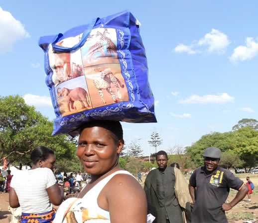 zimbabwe faces shopping woman