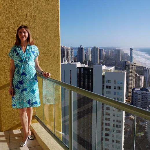mantra sun city blue dress