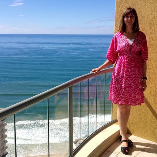 mantra sun city pink dress