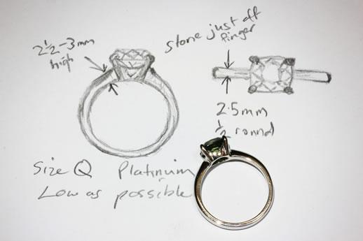 sapphire ring sketch