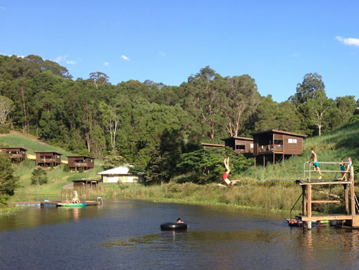 farmstay tweed valley dam jump
