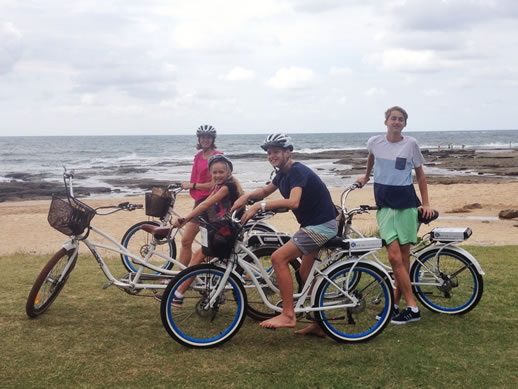 shelly beach caloundra by electric bike