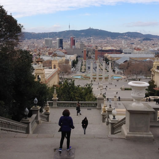 barcelona scenery view