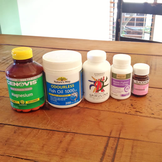 health supplements bottles