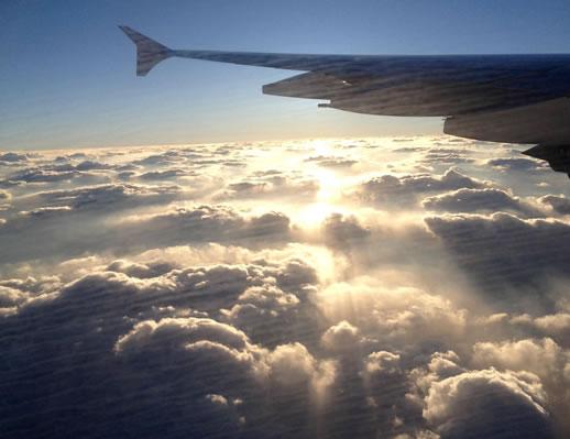 long haul flight tips clouds