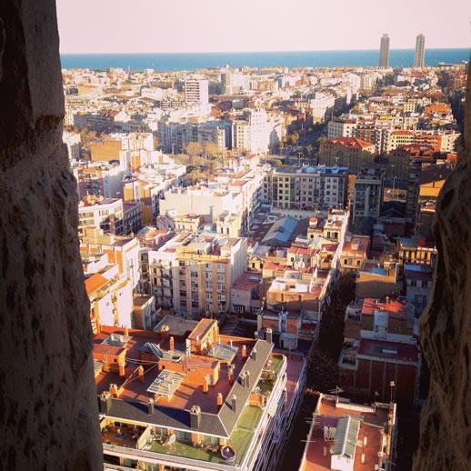 barcelona sagrada familia view