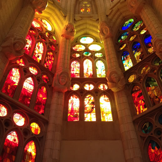 barcelona sagrada familia window
