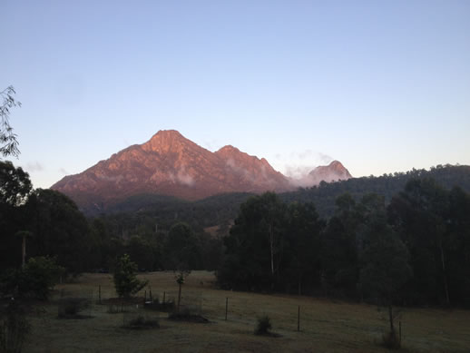 mount barney from lodge