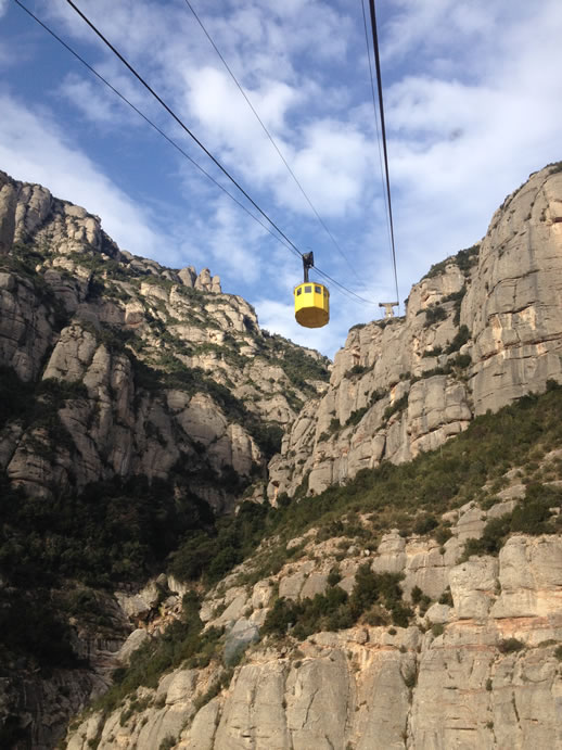 montserrat cable car outside
